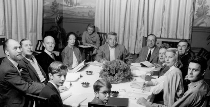 Brian Aherne, Robert Coote, Alec Guinness, Estelle Winwood, Charles Vidor, John Dighton, Leo G. Carroll, Grace Kelly, Louis Jourdan, Claudia Hoover