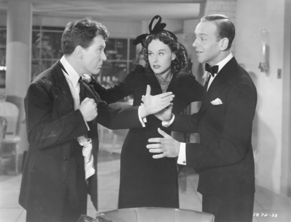 Burgess Meredith, Paulette Goddard, Fred Astaire