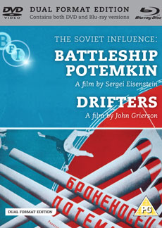 Buy The Soviet Influence: Volume Two: Battleship Potemkin + Drifters on DVD and Blu Ray