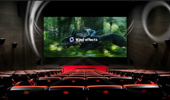 4DX wind effects virtual demo