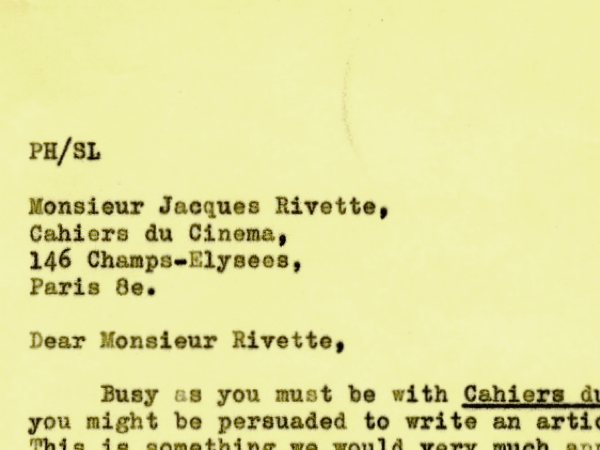 Dear Monsieur Rivette… an invitation to write for Sight & Sound in 1964 - image