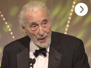 Video: Awards night – BFI Fellowship for Christopher Lee - image