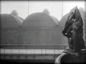 Archives online: British Pathé's Death Jump – Eiffel Tower (1912) - image