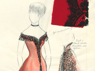 The look of love: designs for Julie Christie's Doctor Zhivago dress, and more - image
