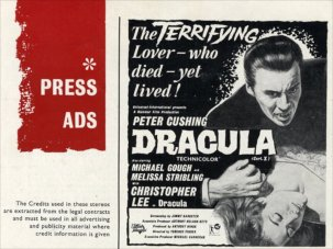 Hammer's Dracula: the original publicity - image