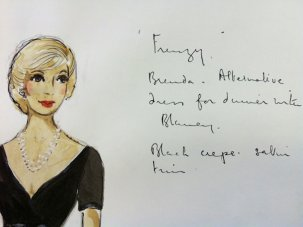 Hitchcock costume designs  - image