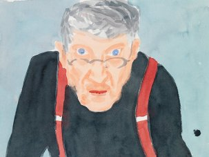 Screen painting: Randall Wright on his portrait of David Hockney - image