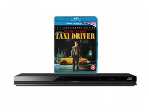 Win a 40th anniversary edition of Taxi Driver and a Blu-ray player