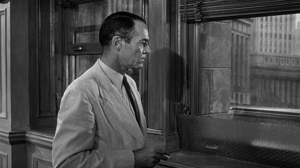 6. The first cut is on Juror 8, Fonda's initially lone voice of 'not guilty', appropriately isolating him from the rest of the group.