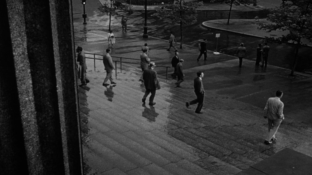 25. It's a huge relief then, and a release of claustrophobic tension, that the film's final shot is its widest, highest vantage point, taking us outside and watching the 12 men gradually disperse and go their separate ways. And… breathe!