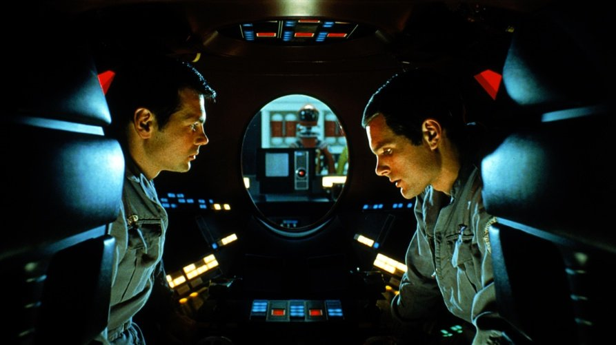 2001: A Space Odyssey (1968): Gary Lockwood and Keir Dullea then