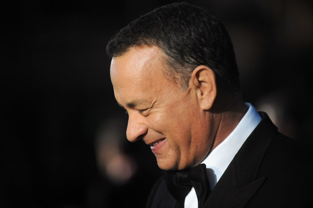 Star Tom Hanks attends the European premiere of Captain Phillips (2013) on the opening night of the 57th BFI London Film Festival.