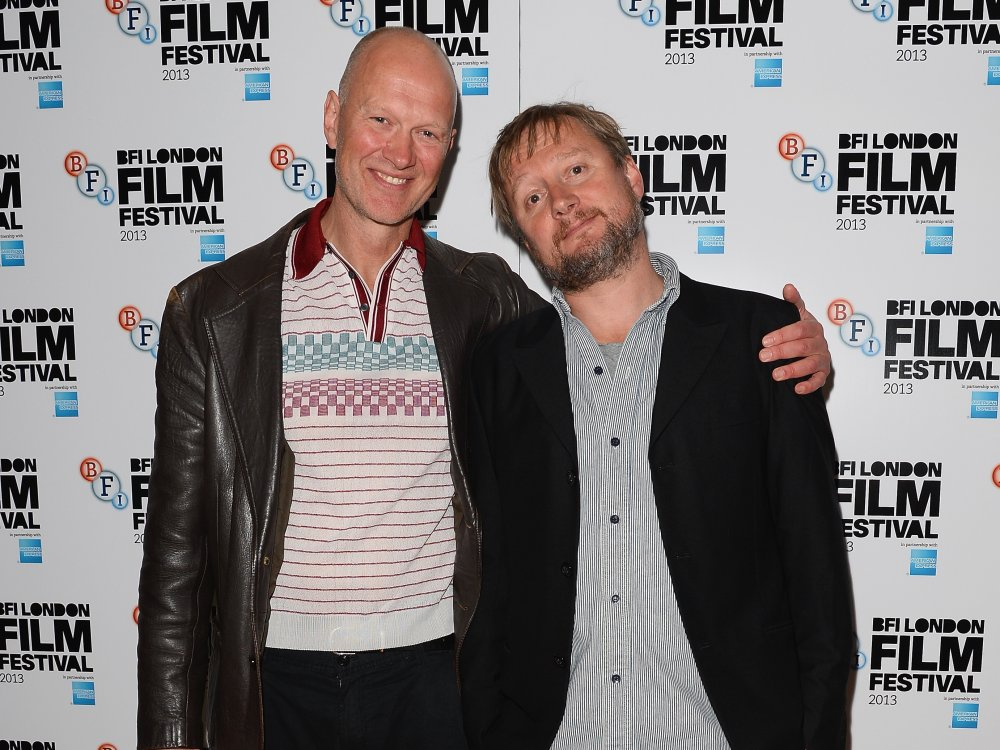 Writer Jonathan Asser and director David MacKenzie attend a screening of Starred Up (2013) on day two of the 57th BFI London Film Festival.