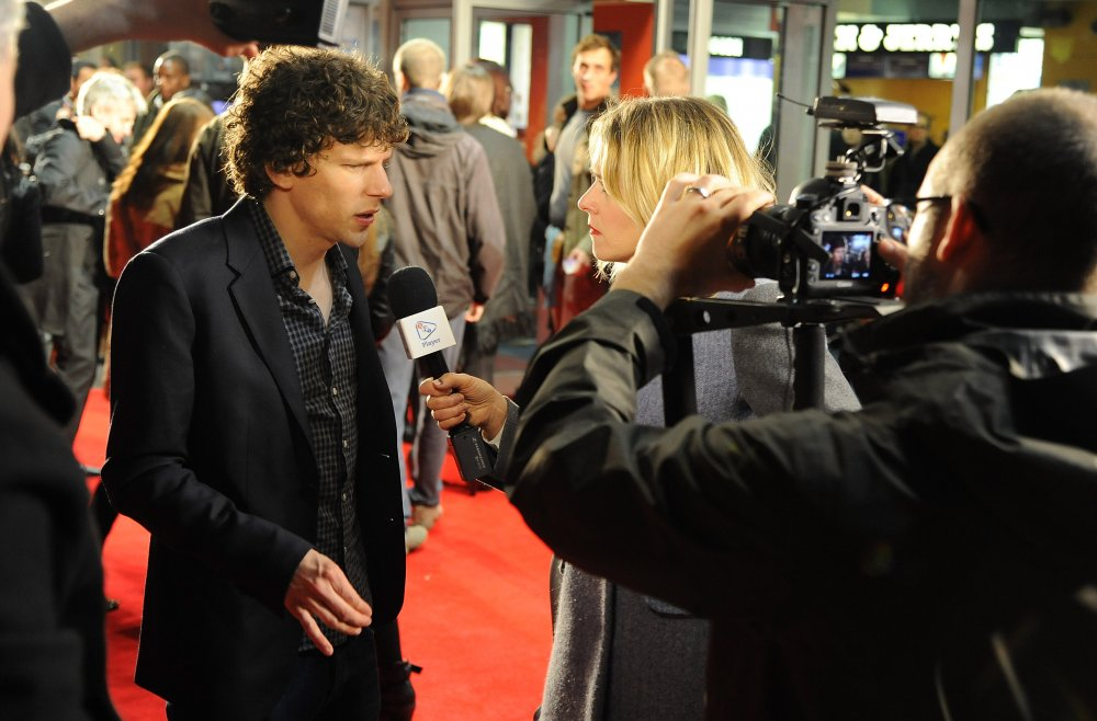 Jesse Eisenberg attends a screening of The Double during the 57th BFI London Film Festival at Odeon West End.