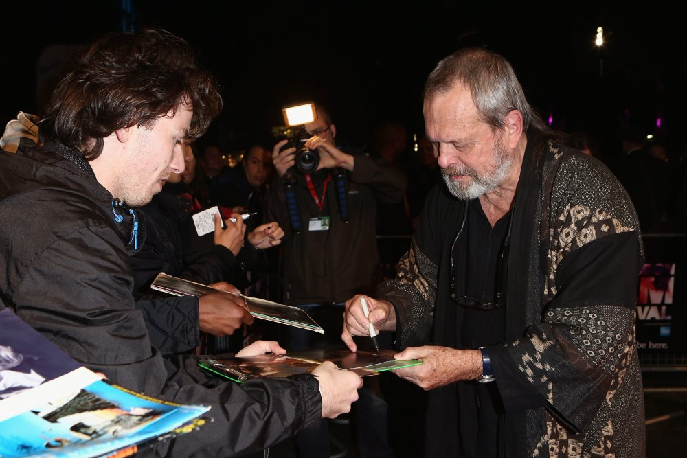 Terry Gilliam attends a screening of The Zero Theorem (2013) at the 57th BFI London Film Festival at Odeon West End.