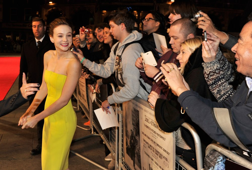 Carey Mulligan attends a screening of Inside Llewyn Davis at the 57th BFI London Film Festival at Odeon Leicester Square.