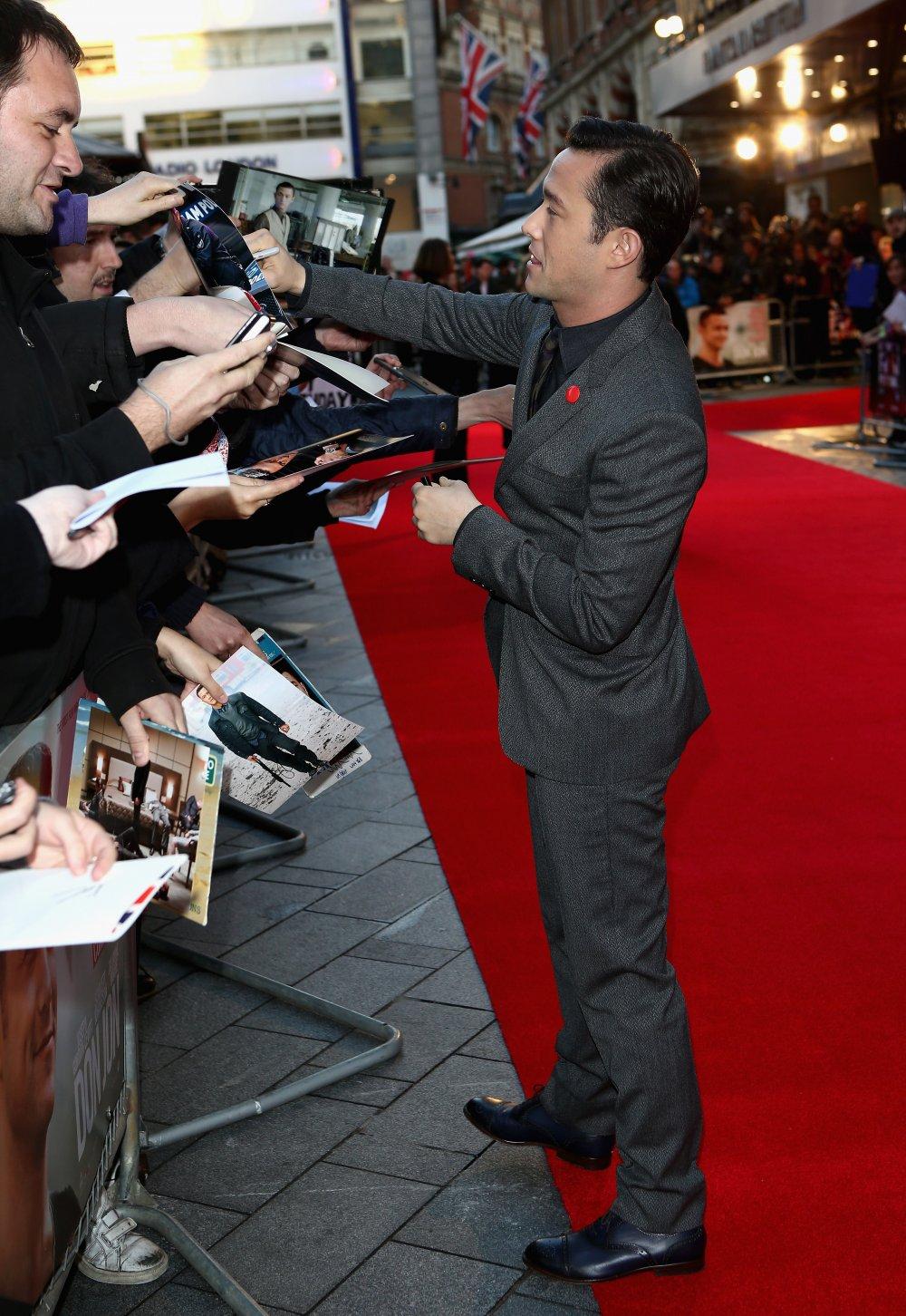 Joseph Gordon-Levitt attends a screening of Don Jon (2013) at the 57th BFI London Film Festival at Odeon West End.