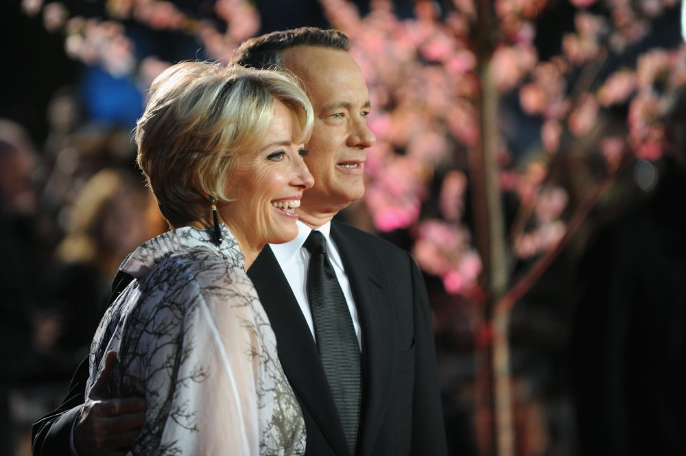 Emma Thompson and Tom Hanks attend the Closing Night Gala screening of Saving Mr. Banks during the 57th BFI London Film Festival at Odeon Leicester Square.