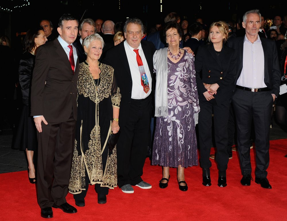Steve Coogan, Dame Judi Dench, Stephen Frears, Philomena Lee, Sophie Kennedy Clark and Martin Sixsmith attend the American Express Gala screening of Philomena during the 57th BFI London Film Festival at Odeon Leicester Square.