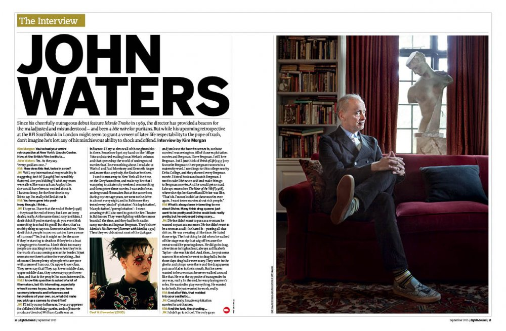 "Sight <span class=""amp"">&</span> Sound interview: John Waters"