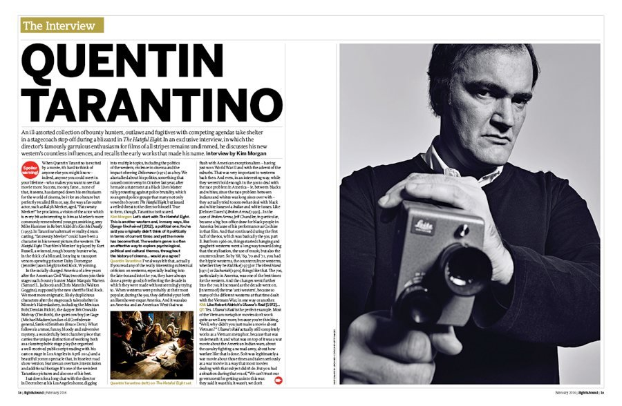 The Interview: Quentin Tarantino