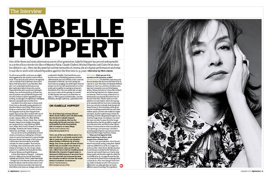 Isabelle Huppert: The S&S Interview