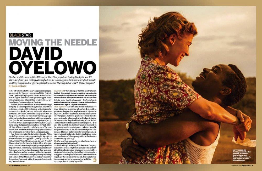 Moving the needle: David Oyelowo