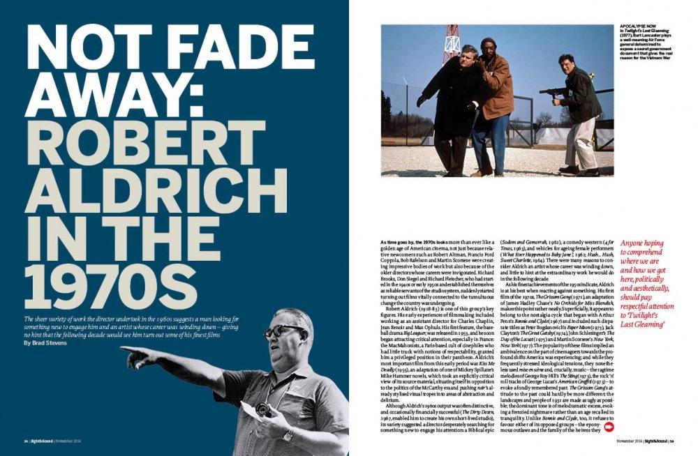 Not fade away: Robert Aldrich in the 1970s