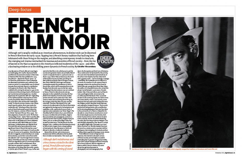 Deep Focus: French Film Noir