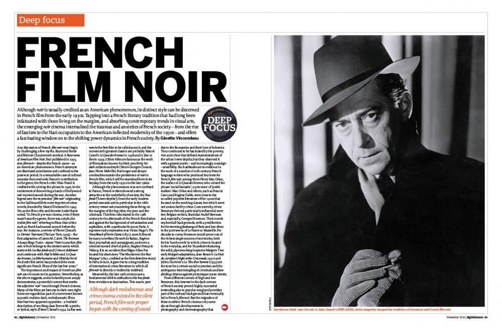 Deep Focus: French Film Noir