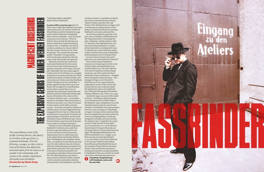 Magnificent Obsessions: The Explosive Genius of Rainer Werner Fassdinder