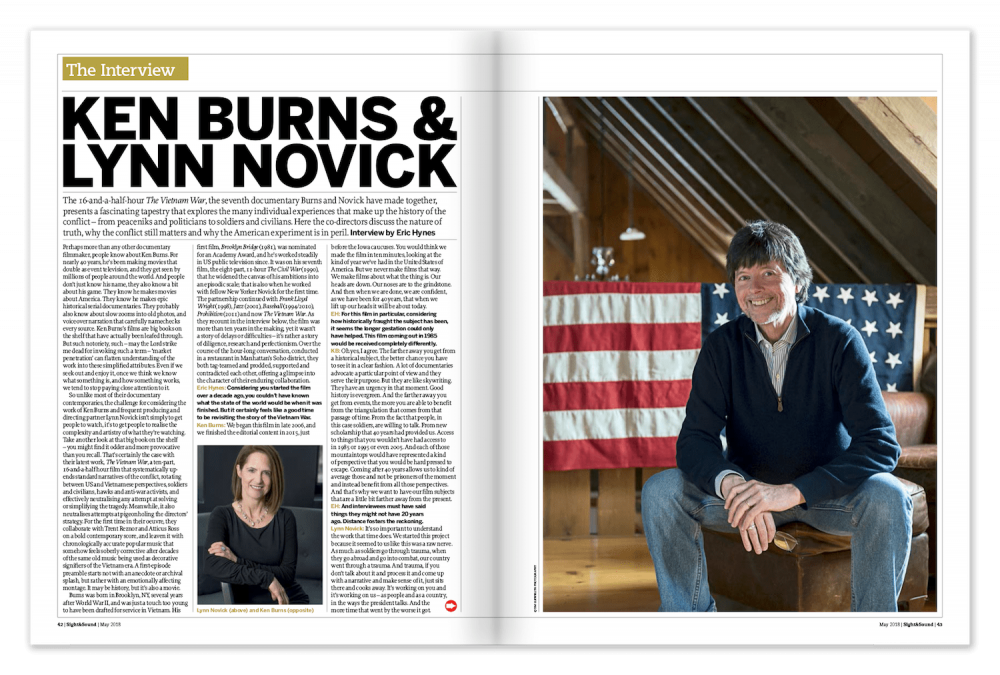 The S&S Interview: Ken Burns and Lynn Novick