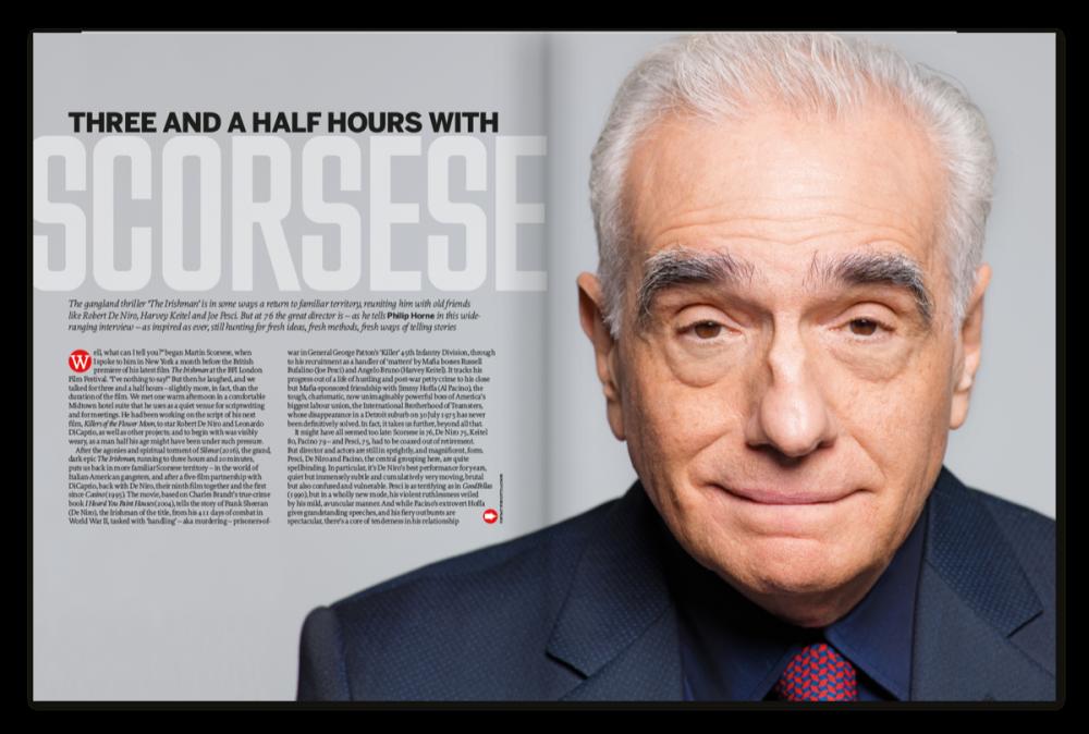 Sight Sound November 2019 Issue Scorsese On De Niro And The Irishman Bfi