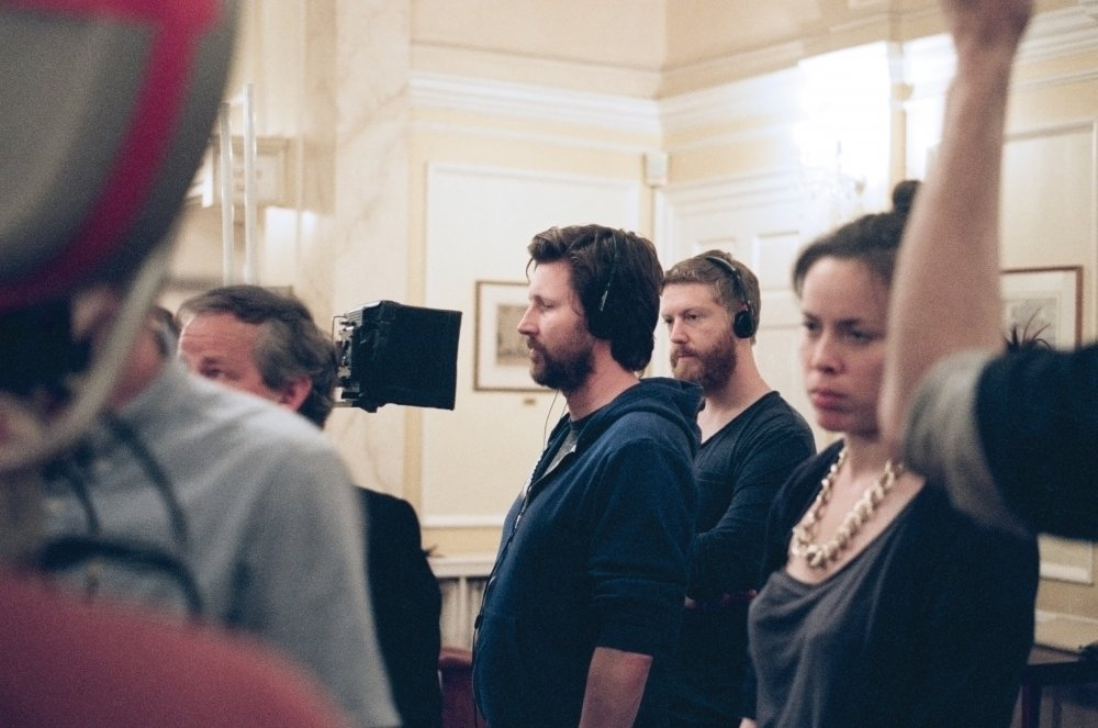 Andrew Haigh and producer Tristan Goligher on set