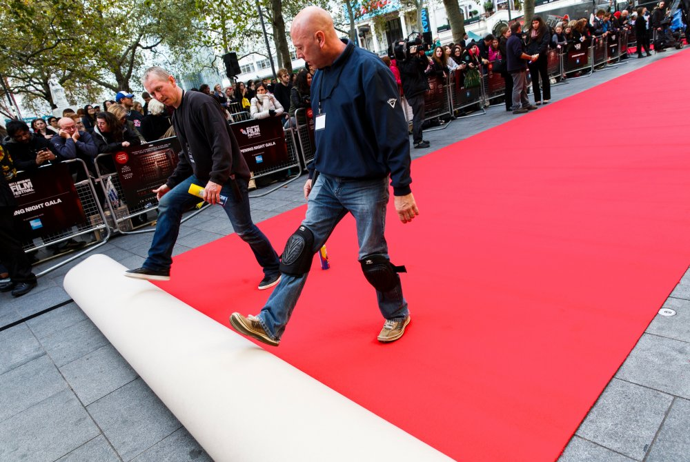 The 58th BFI London Film Festival: red carpet preparations