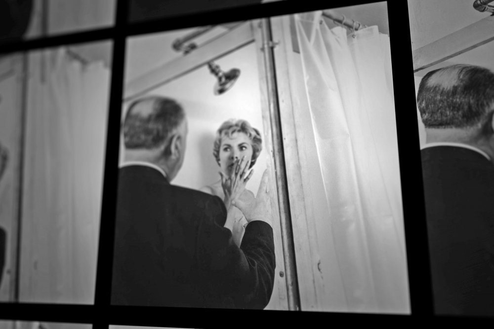 Alfred Hitchcock directing Janet Leigh in Psycho (1960)… in Alexandre O. Philippe's 78/52 (2017)