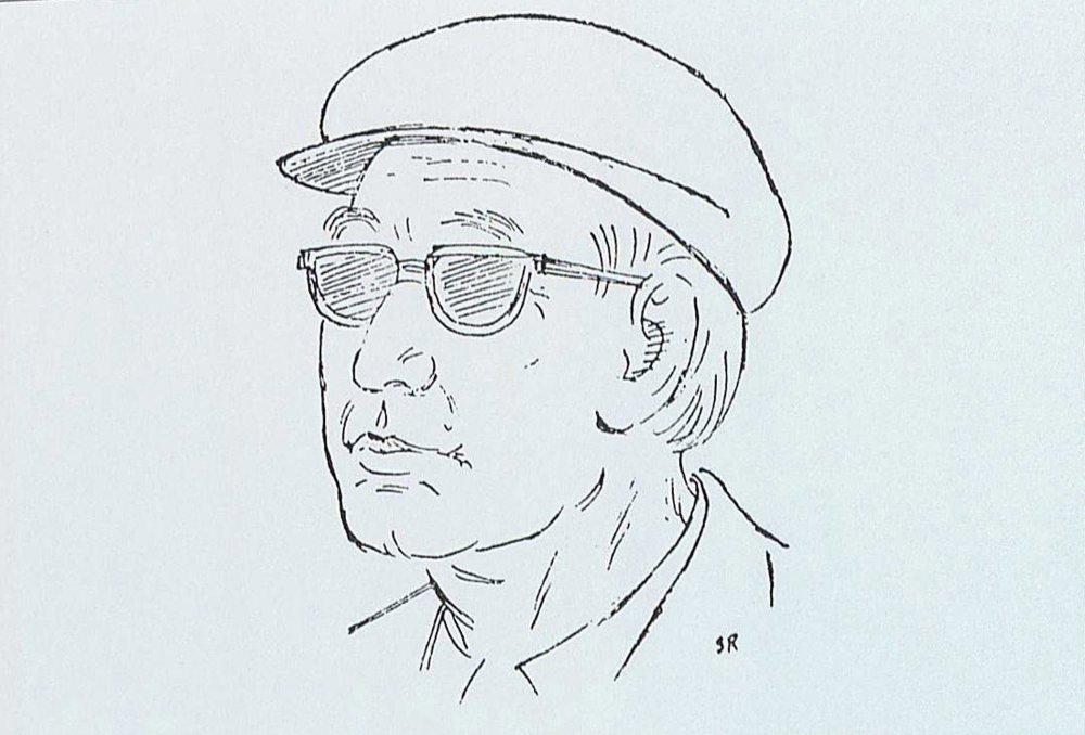 Satyajit Ray's sketch of Akira Kurosawa