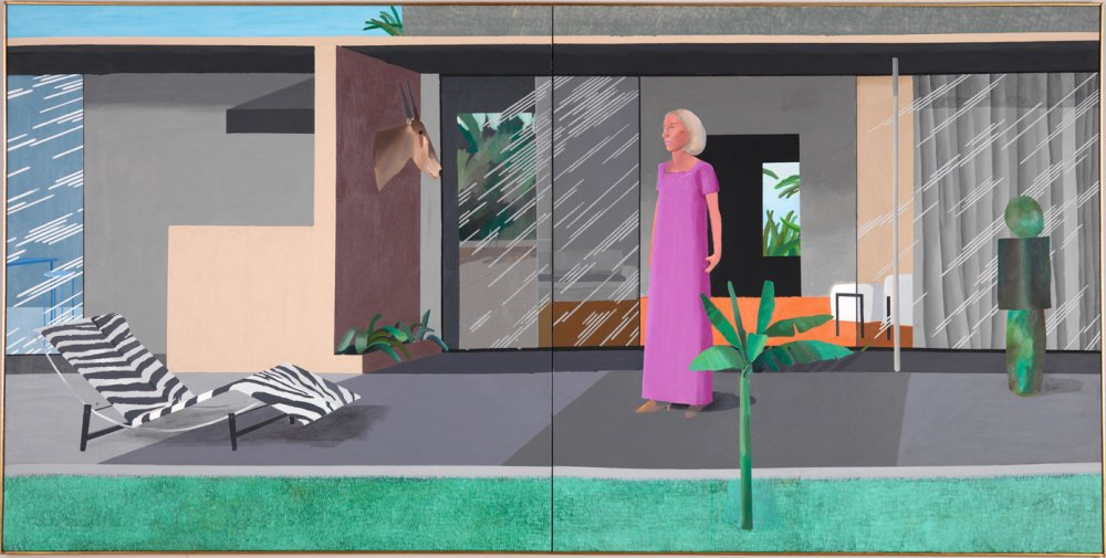 Hockney's 1966 painting Beverly Hills Housewife