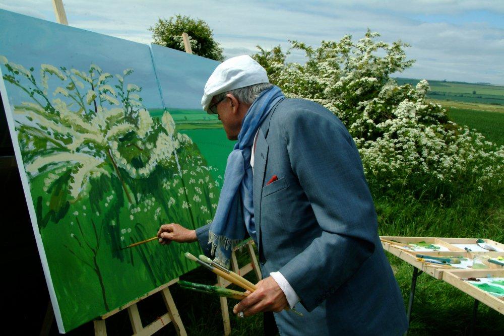 David Hockney painting