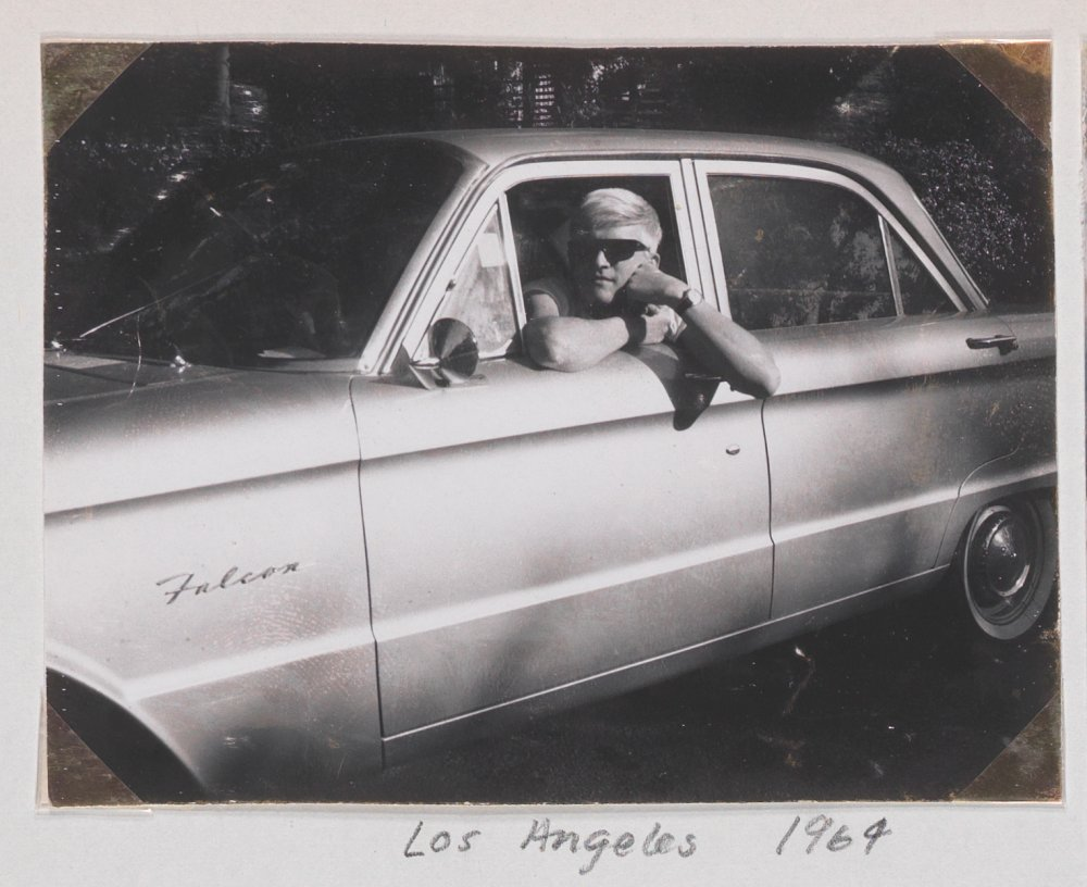 Hockney in Los Angeles in 1964