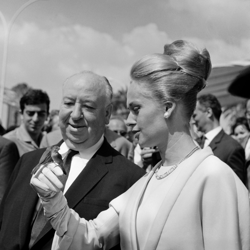 The master of suspense and publicity, Alfred Hitchcock realised quickly how Cannes provided the perfect photo opportunity. Here he is with Tippi Hedren on occasion of their film The Birds showing at 1963 edition of the festival.