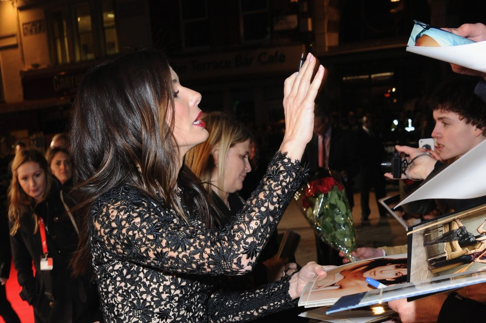 Sandra Bullock attends a screening of Gravity at the 57th BFI London Film Festival at Odeon Leicester Square.