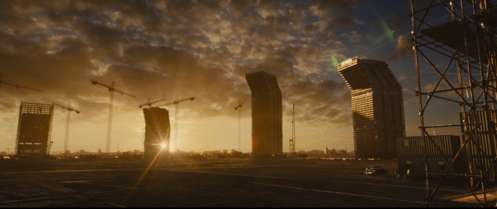 The tower blocks in a still from High-Rise