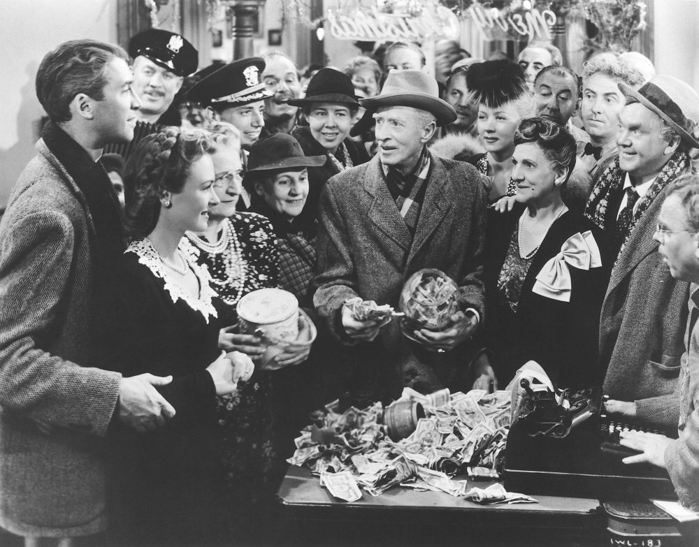 Capra's true subject in It's a Wonderful Life (above) and his other films, was America, a land where the bad guys are invariably beaten by democracy