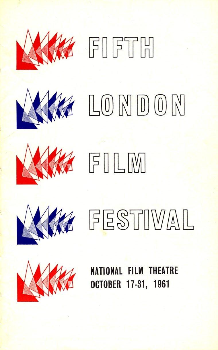 Fifth London Film Festival poster, 1961