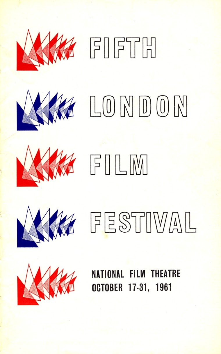 Fifth London Film Festival poster, 1961