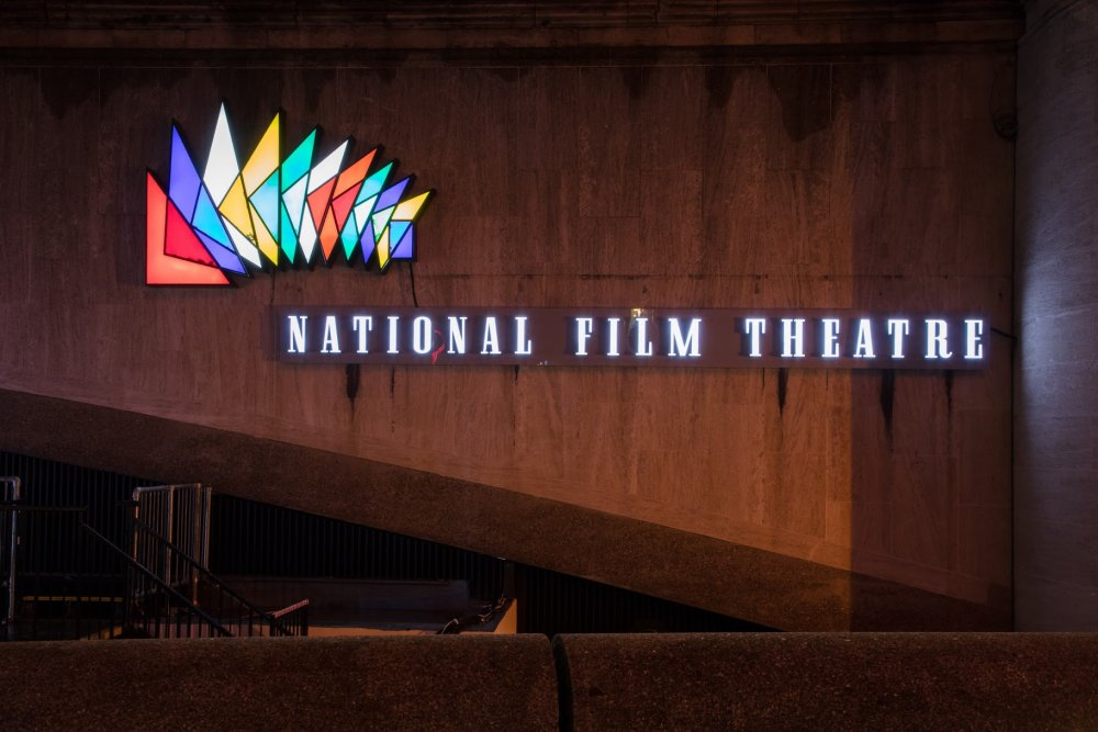 NFT sign at BFI Southbank, created by Norman Engleback in 1957