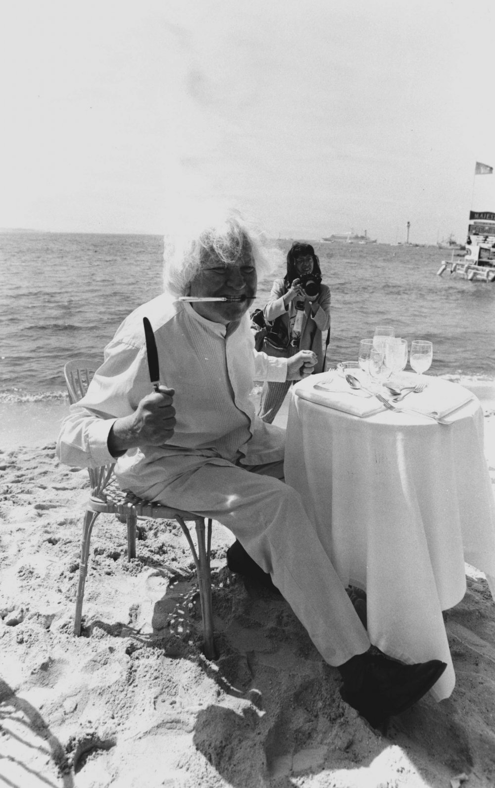 Ken Russell dines out in 1987
