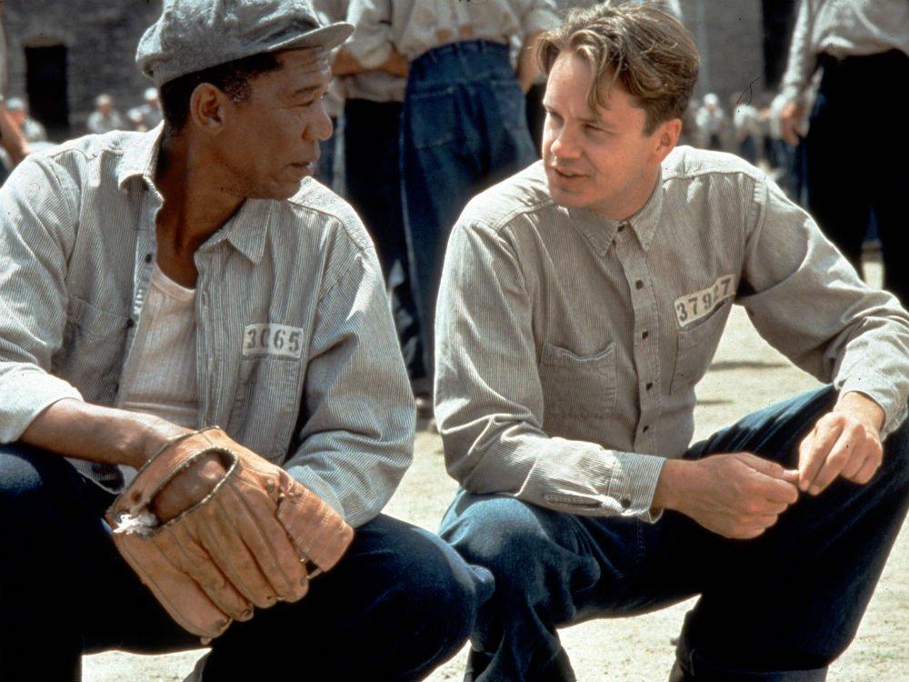 Morgan Freeman and Tim Robbins in The Shawshank Redemption