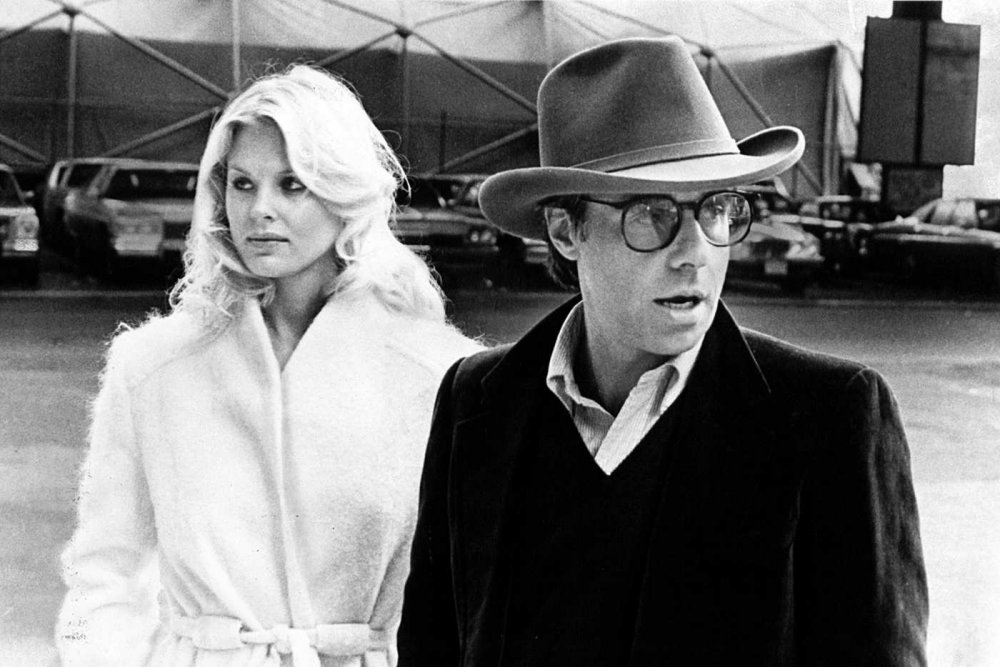 Peter Bogdanovich and Dorothy Stratten on the set of They All Laughed (1981)